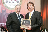 Receiving Best of Budapest award in 2010