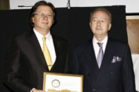 Receiving Best of Budapest award in 2011
